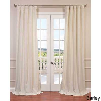 EFF Heavy Faux Linen Curtain Panel - Overstock