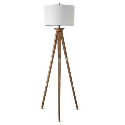 Oak Wood Tripod Floor Lamp - Target