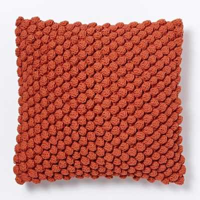 """Bubble Knit Pillow Cover - Cayenne - 16""""sq - Insert sold separately - West Elm"""