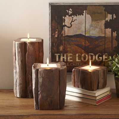 Teak Candle - Birch Lane