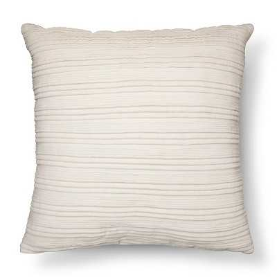 """Thresholdâ""""¢ Pleated Textured Toss 20"""" sq. Pillow,  Polyester ( 100,%) - Target"""