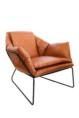 Mid Century Modern Leather Metal Frame Chair - Etsy