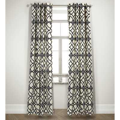 Double Drape Curtain Panels in Navyby Mercury Row - Wayfair
