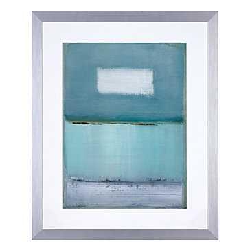 Azure Blue 1 - 26.5x32.5 - Framed - Z Gallerie