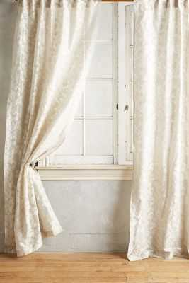 Traced Jacquard Curtain - Anthropologie