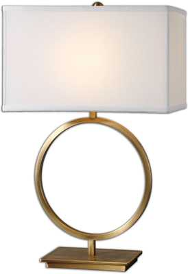"28""h Duara 1-Light Table Lamp Plated - lampsusa.com"