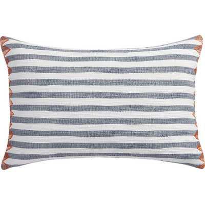 "Marine layer 18""x12"" pillow - CB2"