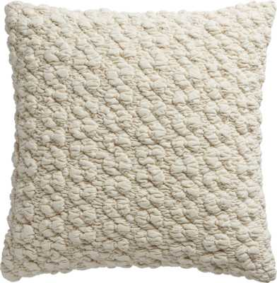 "Gravel ivory 18"" pillow with down-alternative insert - CB2"