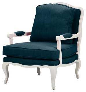 Agatha Accent Chair, Azure - One Kings Lane