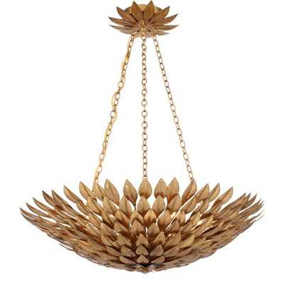 Leaf Pendant Chandelier - Antique Gold - Wayfair