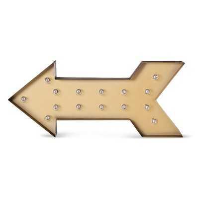 Metal Marquee Large - Arrow - Brass - Target