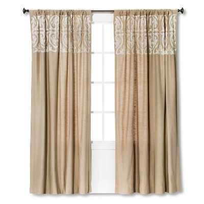"Thresholdâ""¢ Scroll Embroidery Curtain Panel - Target"