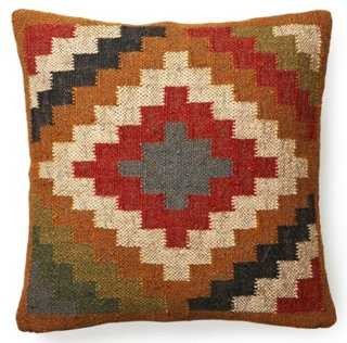 Kilim 20x20 Wool-Blend Pillow, Multi - One Kings Lane