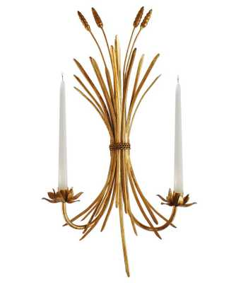 Wheat Sheaf Wall Sconce, Candle Holder - High Street Market