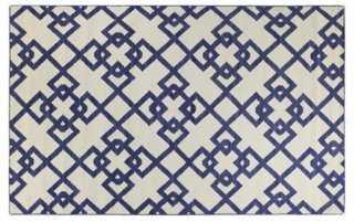 "7'6""x9'6"" Everett Flat-Weave Rug, Blue - One Kings Lane"