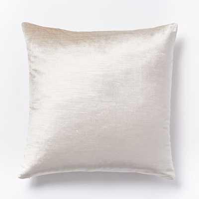Luster Velvet Pillow Cover 20x20  Insert Sold Separately - West Elm