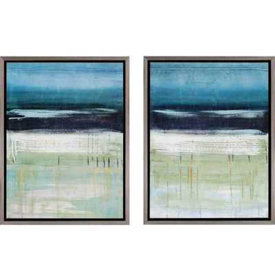 Sea and Sky by McAlpine 2 Piece Framed Graphic Art Set - Wayfair