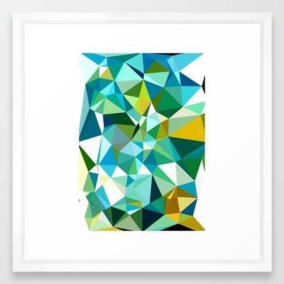 "Abstract 8 FRAMED ART PRINT/ VECTOR WHITE MEDIUM (GALLERY) (22"" X 22"") - Society6"