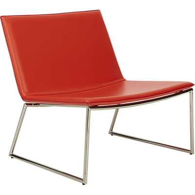 Triumph red-orange lounge chair - CB2