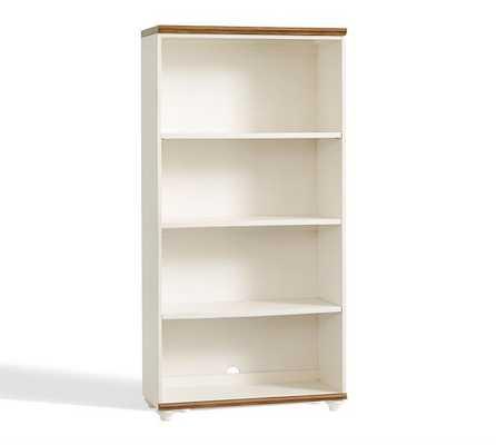 Whitney Bookcase-Almond White - Pottery Barn