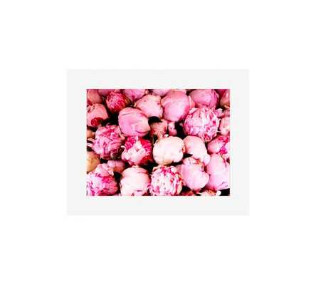 "PINK PEONIES-20 X 16"" -Mat-Framed - Pottery Barn"
