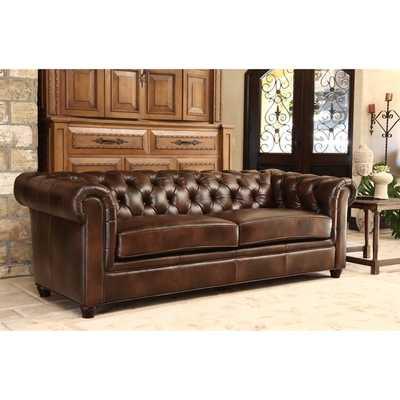 ABBYSON LIVING Tuscan Premium Italian Leather Sofa - Overstock