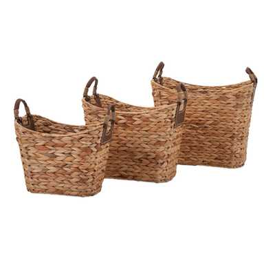 IMAX Niko Natural Weave Baskets, Set of Three - Bellacor
