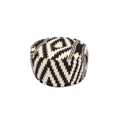 Jaipur Traditions Made Modern Black Pouf - supply.com
