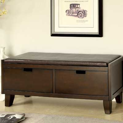 Executive Leatherette Storage Entryway Bench - Wayfair