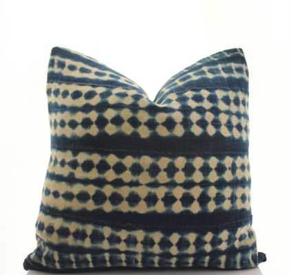 African Indigo Mudcloth Pillow Cover Only - Etsy