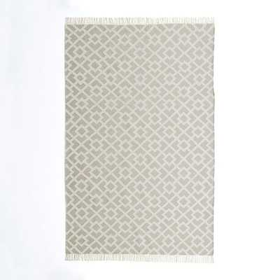 Metallic Diamond Kilim - Flax - 8' x 10' - West Elm