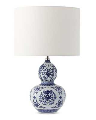 Gourd Ginger Jar Table Lamp, Blue and White - Williams Sonoma