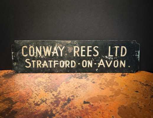 British Antique Street Sign Stratford-On-Avon - Etsy