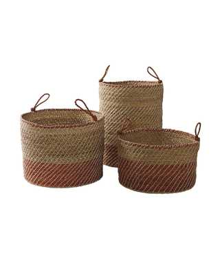 Laguna Seagrass Baskets (Set of 3) - Serena and Lily