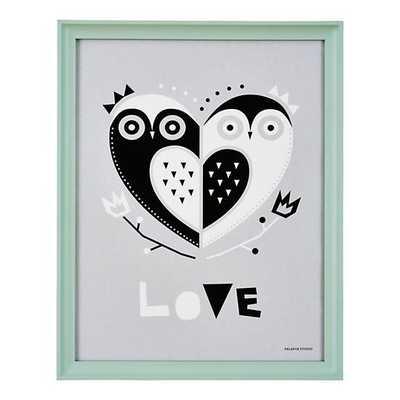 Owl Always Love You Framed Wall Art - Framed - Land of Nod