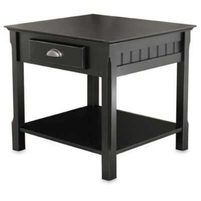 Riley End Table with Drawer in Black - Bed Bath & Beyond