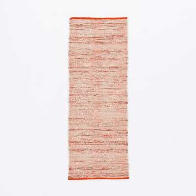 Plain Weave Sweater Wool Rug, 2.5'X7', Cayenne - West Elm