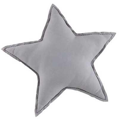 Grey Star Filled Throw Pillow - Land of Nod