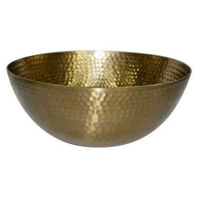 Threshold Metal Hammered Small Serving Bowl - Gold - Target