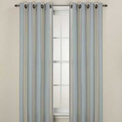 Lauren Stripe 63-Inch Window Curtain Panel in Blue - Bed Bath & Beyond