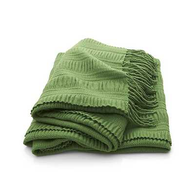 """Casey Green Throw - 40""""x70"""" - Crate and Barrel"""