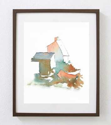 Serene Nautical Landscape Print - 13 X 19 - Framed - Etsy