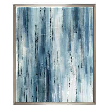 Transparent Of Blues - Original Art- 48''W x 1.5''D x 60''H- Framed - Z Gallerie