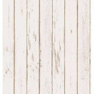 56 sq. ft. Weathered Plank Wallpaper - Home Depot
