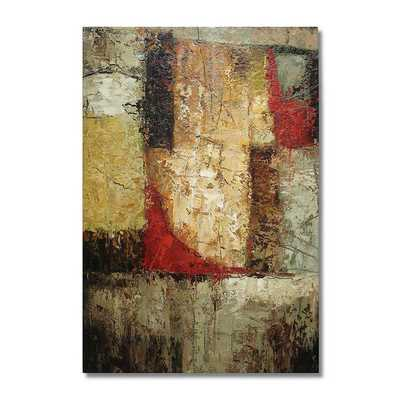 """Abstract """"Modern Geometry"""" Original Oil Painting on Canvas - 36""""x24"""" - Unframed - Overstock"""