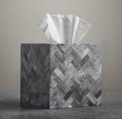 BONE GREY TISSUE BOX - RH