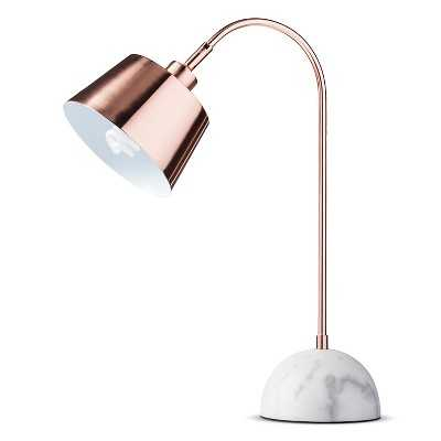 "Thresholdâ""¢ Copper Task Lamp with White Marble Base - Target"