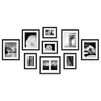 "Swing Designâ""¢ 9-Piece Frame Gallery in Black - Bed Bath & Beyond"