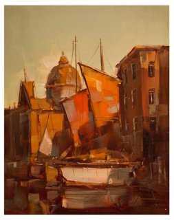 "Vahe Yeremyan, Sunrise in Venice - 11"" x 14"" - Unframed - One Kings Lane"