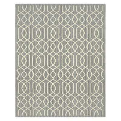 Garland Fretwork Rug - Silver/Ivory - 8' x 10' - Target
